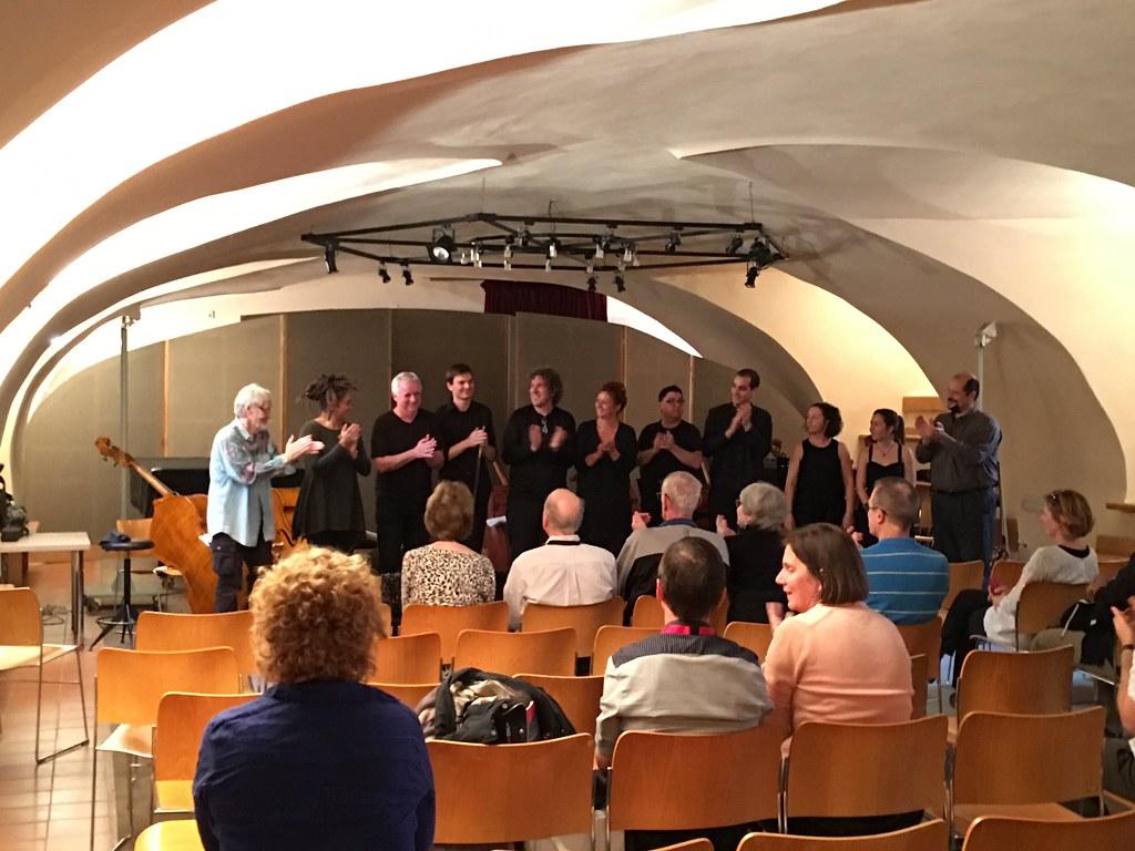 Celebrating after Teppo Hauta-aho's recital