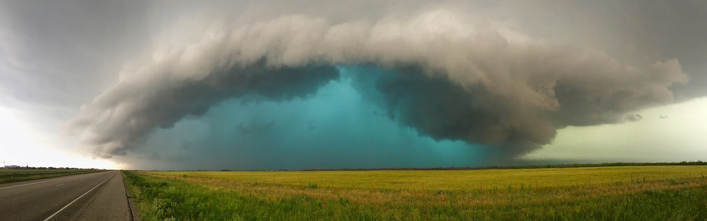Weinert Texas Supercell Explored  Amazing hail core