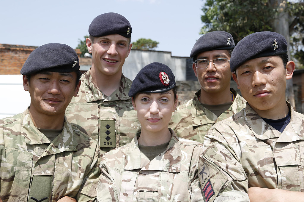 Gurkha engineers construct a water purification system for