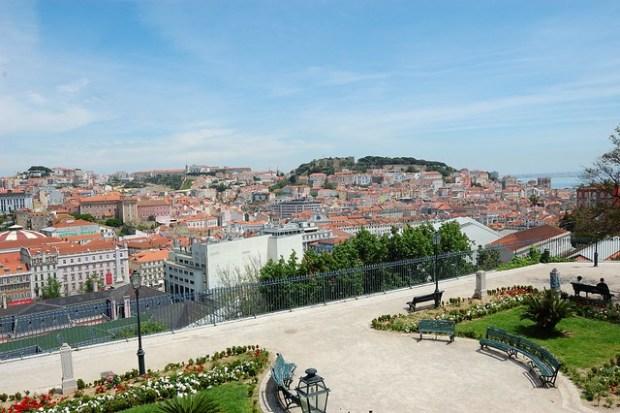 View from the Miradouro de Sao Pedro de Alcantara | Two Free Days in Lisbon | No Apathy Allowed