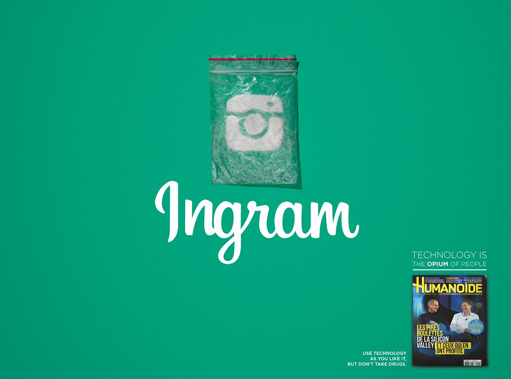 Humanoide - Technology is the opium of people Instagram
