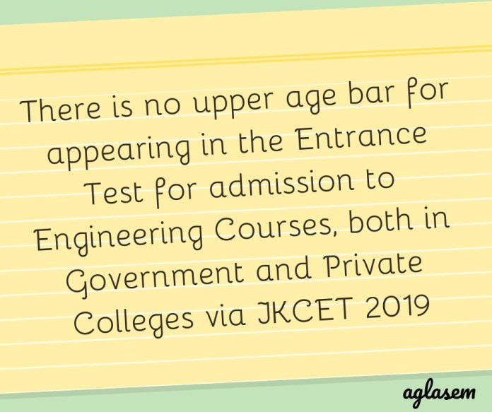 JKCET 2019 Eligibility Criteria