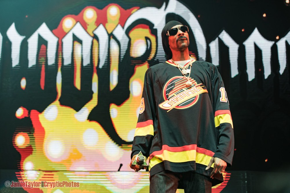 American rapper Snoop Dogg performing at Rogers Arena in Vancouver, BC on February 22nd 2019