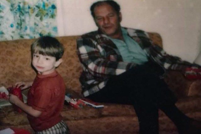 Me at age 4 or so, with my grandfather, Michael Scalzi