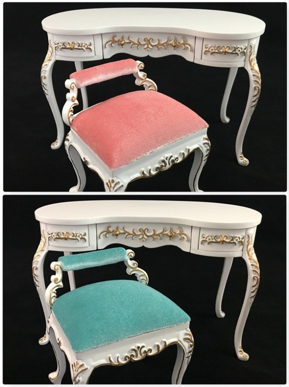 online store ae12a 3b0f1 1:6 Scale French Dressing Table W/ Vanity Chair Available at ...