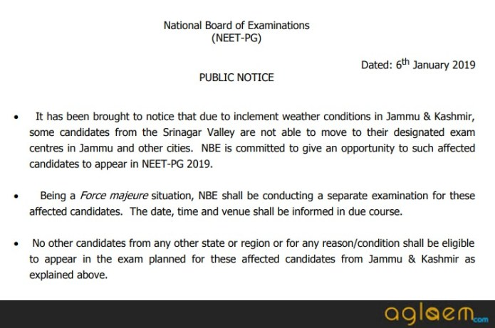 NEET PG 2019: Result (Announced), Cut Off, Merit List, Counselling