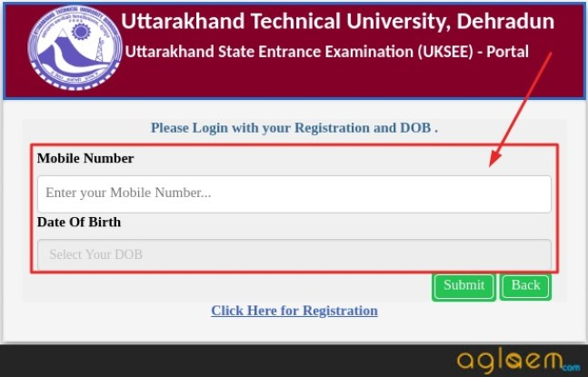 UKSEE 2019 Admit Card to retrieve registration no.