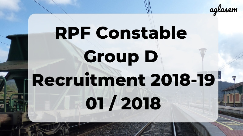 RPF Constable Group D Result 2018-19