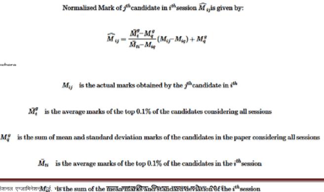 Normalization formula