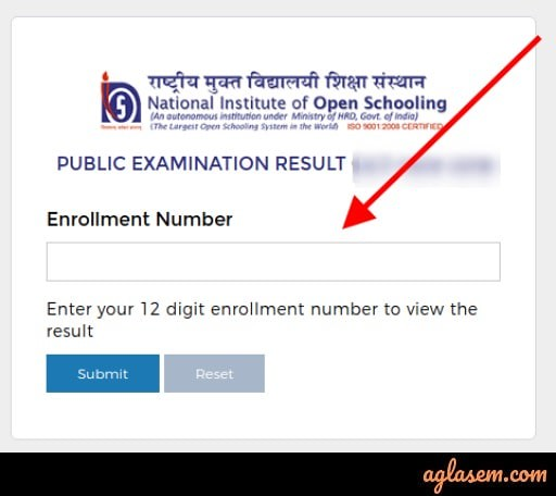 NIOS 12th Result April 2020