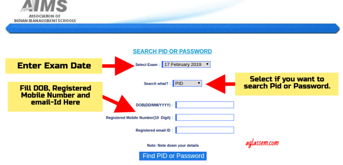 How to Recover Login Credentials for ATMA 2019 Admit Card