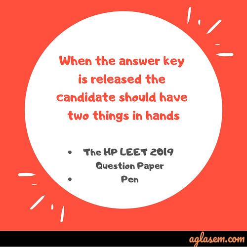 HP LEET 2019 Answer Key