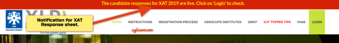 XAT 2019 Answer key and Response sheet are live