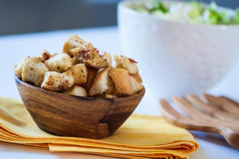 Dijon Bacon Croutons 1