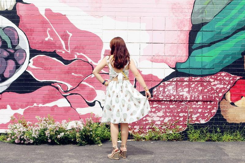 zaful dress, tie back