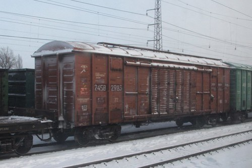 Ukrainian Railways boxvan