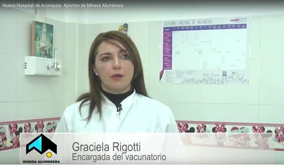 Graciela Rigotti. Encargada del vacunatorio Nuevo Hospital de Aconquija