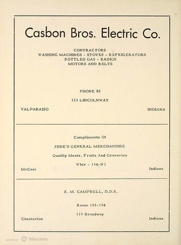 Casbon Electric Ad 1949 Portage HS yearbook