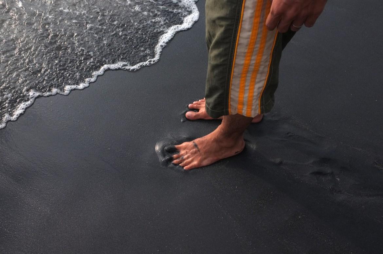 the black sand... i love it!