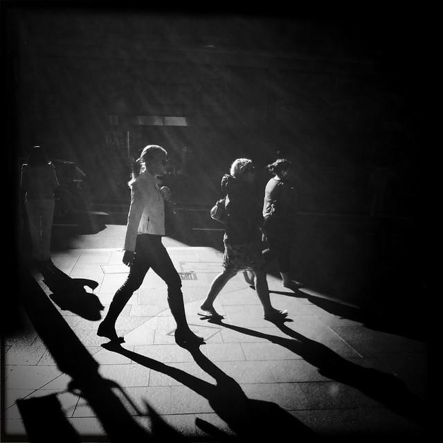Walking through the light