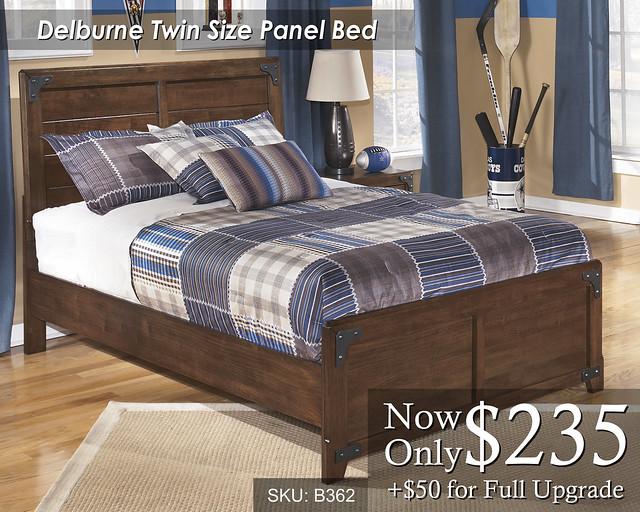 Delburne Twin Panel Bed B362-87-86