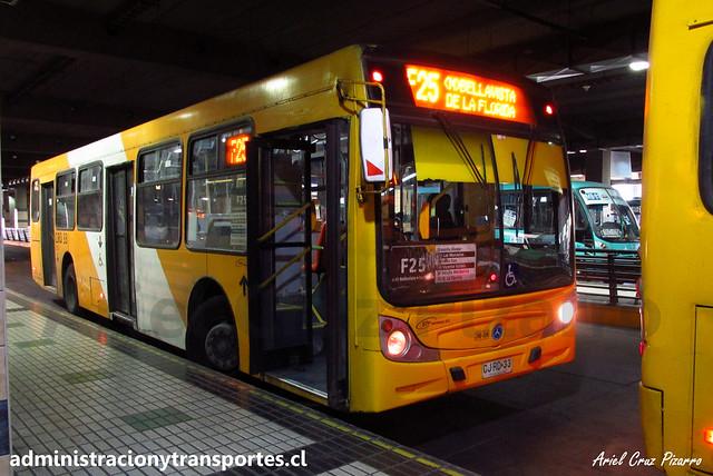 Transantiago F25 | STP Santiago | Caio Mondego H - Mercedes Benz / CJRD33