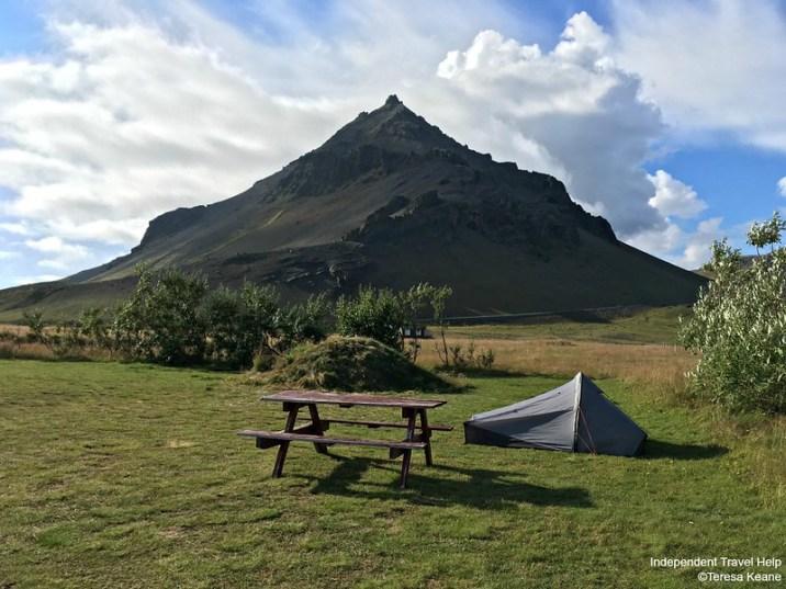 Arnastrapi campsite