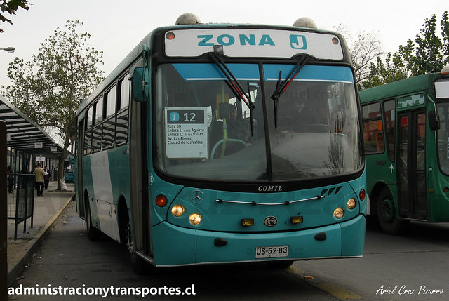 Transantiago | Comercial Nueva Milenio (Metbus) | Comil Svelto - Mercedes Benz / US5283
