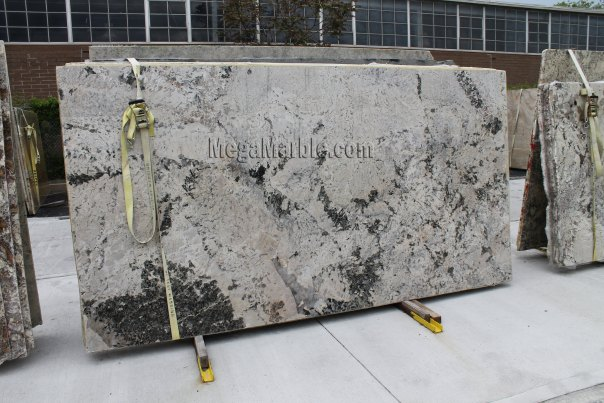 Aspen White Granite Slab