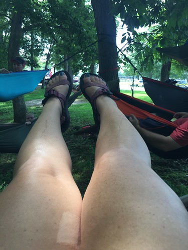 Geannie's hammocking legs
