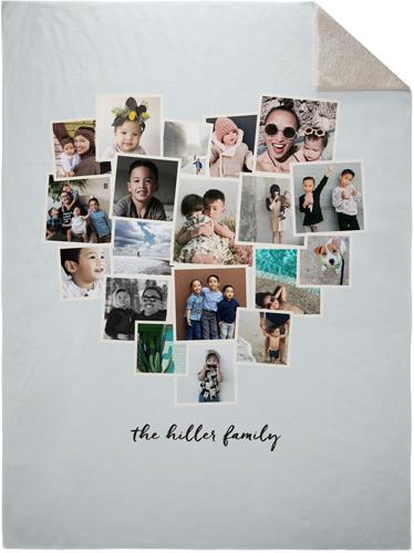 Heart Collage : heart, collage, Tilted, Heart, Collage, Fleece, Photo, Blanket, Shutterfly