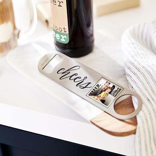 monogram name collage bottle