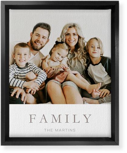 family photo framed canvas