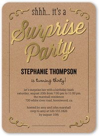 Sweet Surprise Surprise Birthday Invitation   Shutterfly