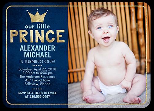 baby boy son 1st birthday invitation