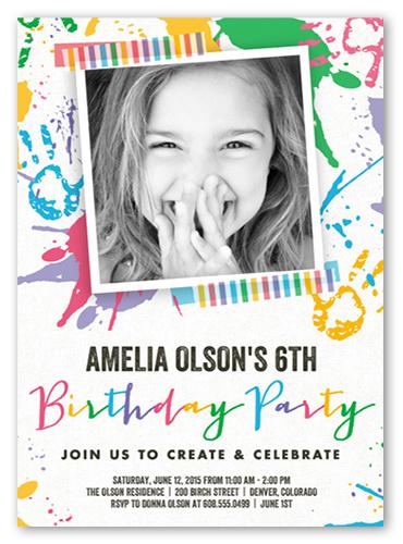 paint splash bash teen girl birthday party shutterfly