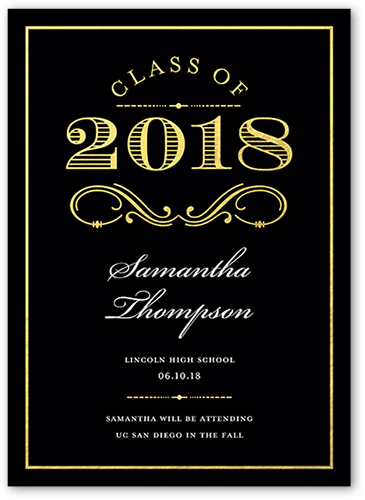 Regal Achievement 5x7 Graduation Announcements Cards