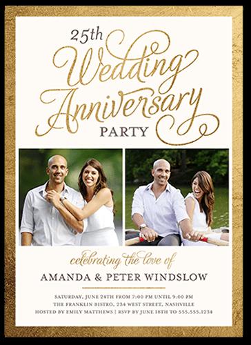 25th Wedding Anniversary Invitations Shutterfly