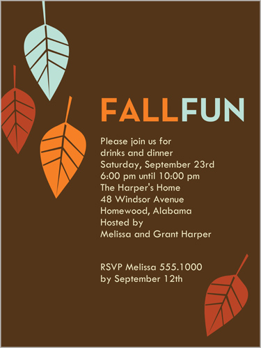 Fall Fun Fall Party Invitation Shutterfly