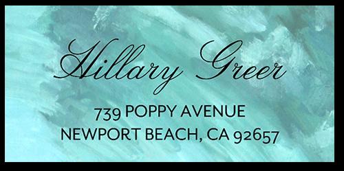 painterly famous address label