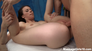 Massage Girl Veronica Gets Fucked And Creamed