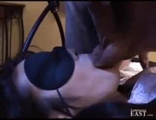 Japanese sex submissive tied blindfolded and fucked by her male master