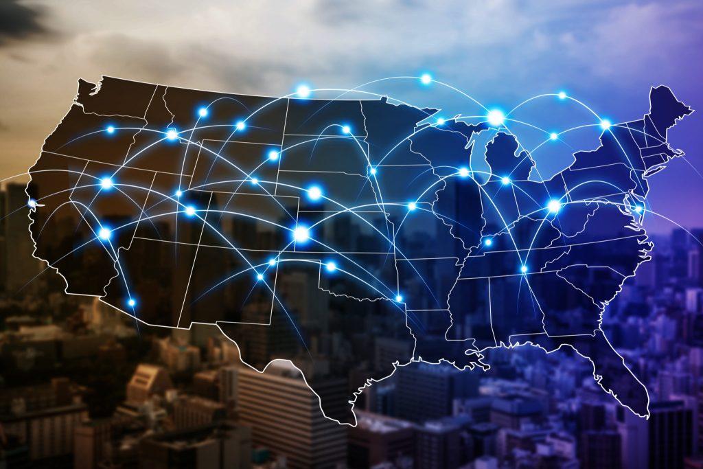 communication network of united states