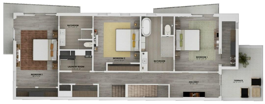 Enclave unit A Floor plan 2nd story