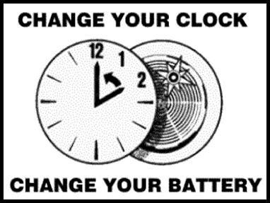 Change your clock = change your batteries