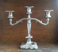 Vintage English Silver Candelabra, Classic 3 Light Candle ...