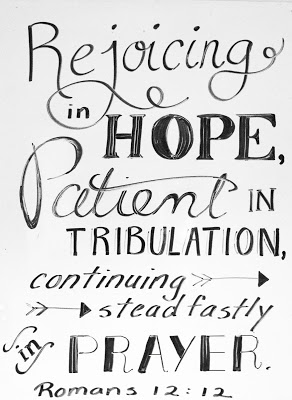 OUR VERSE FOR MARCH, 2017 [Rejoicing in Hope]