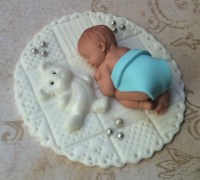 BABY BOY SHOWER FONDANT CAKE TOPPER BABY SHOWER ...