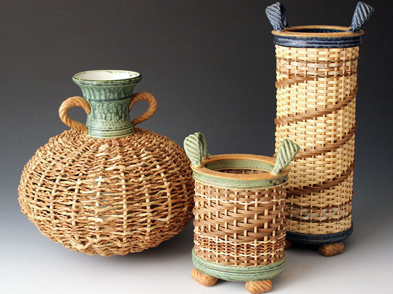 Stephen Kostyshyn's ceramic baskets