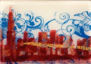 Glass tile by Carolyn O'Hearn